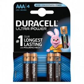"Duracell Ultra Power, mini stilo ""AAA"", 4 pz"