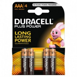 "Duracell Plus Power, mini stilo ""AAA"", 4 pz"