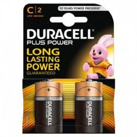 """Duracell Plus Power, mezza torcia """"C"""", 2 pz"""