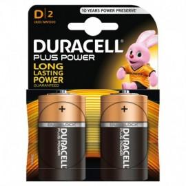 """Duracell Plus Power, torcia """"D"""", 2 pz"""