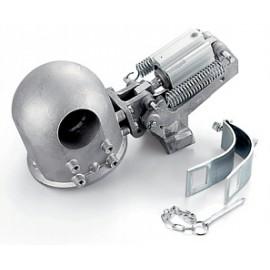 Spegnifiamma pneumatico orizzontale in alluminio per scarico 100-135