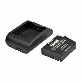 Kit carica batteria + batteria per action camera