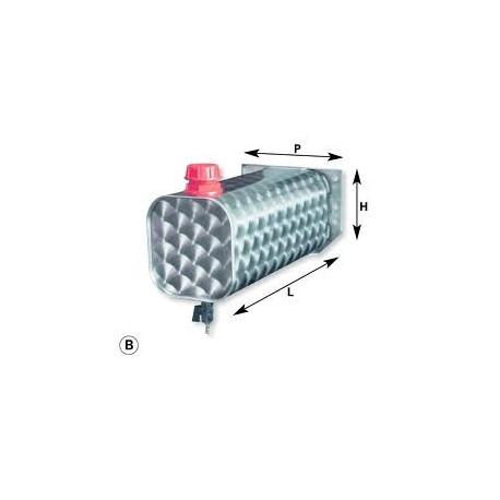 Serbatoio tanica inox fiorettato 12 Lt.
