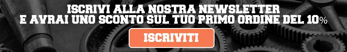 Iscriviti alla newsletter e avrai il 10% di sconto